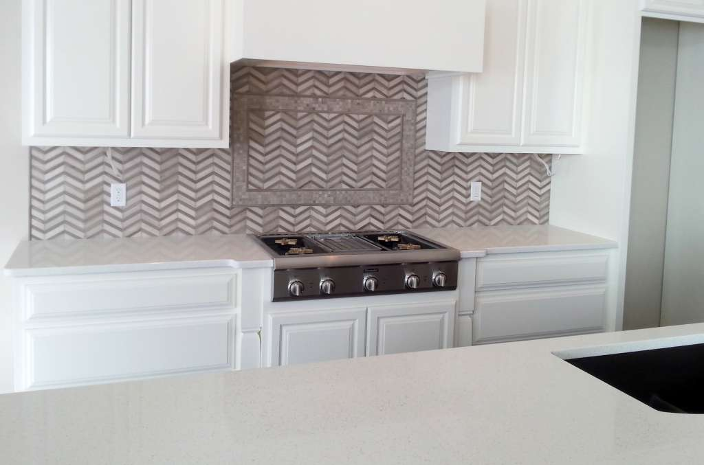 Chevron in Wood Vein and Athens Gray CHV01