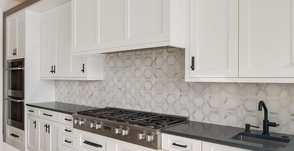 MetroHex in Calacatta kitchen